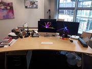 6 Büro Schreibtische - höhenverstellbar top