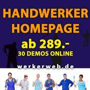 Handwerker Webseiten Homepage 30 Demos