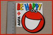 Agfa Aufkleber Sticker-Be Happy- Agfa-Fan-AGFA
