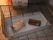 Kleintierkäfig - Box 50x97x28-48 Meerschweinchen Kaninchen