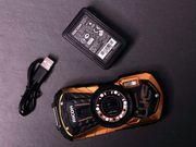 Ricoh WG-30W wasserdichte Digitalkamera orange