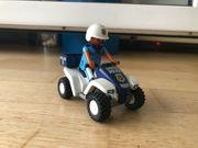 playmobil Polizei-Quad mit Rückziehmotor 3655 -
