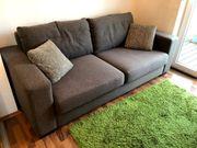 Kleine Wohnzimmer Couch Sofa Anthrazit