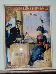 Blechschild Fernet Branca - Milano 1887 -