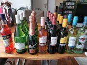 Party Überbleibsel Bier Wein Sekt
