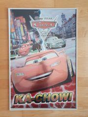 Cars Poster Plakat inkl Bilderrahmen