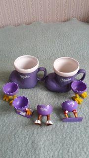 Milka Bärenbecher Kaffeebecher Eierbecher und