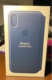 iPhone X Original Lederhülle von