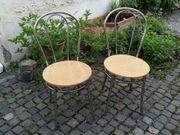 2x Chrom Stühle Kaffeehaus-Stühle Eßzimmerstühle