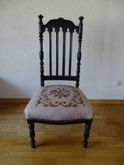 Schöner alter Polsterstuhl Prinzessinenstuhl in