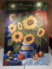 Malen nach Zahlen Meisterklasse - Sonnenblume