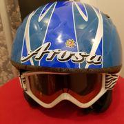 Kinder Ski Helm inklusive Brille