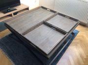 Hochwertige Couchtisch 120x120cm Holz Metall