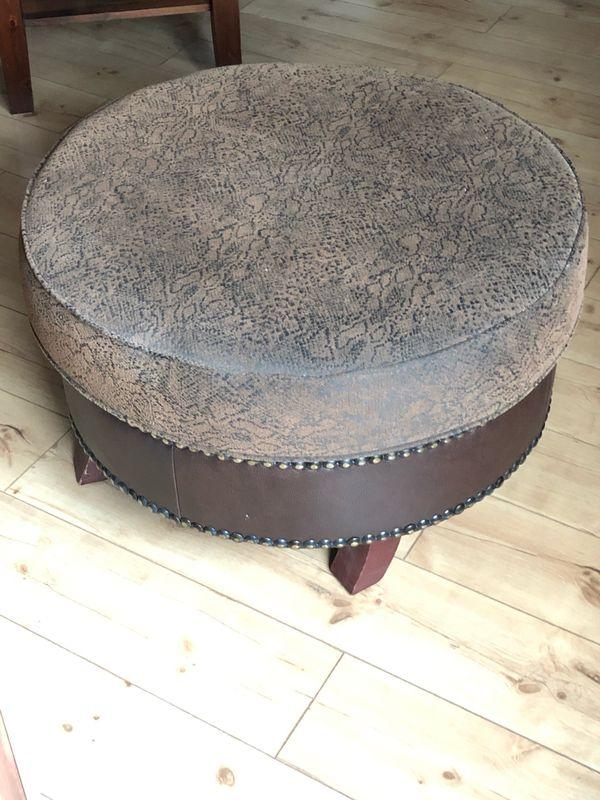 Hocker Fur Sofa Couch Leder Braun Big Afrika Kolonialstil In