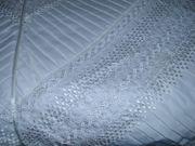 Bettüberwurf Tagesdecke mit Stickereien in