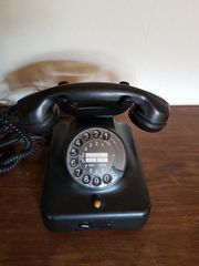 Telefon schwarz und antik