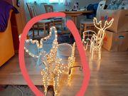 LED Rentier mit Schlitten Weihnachts