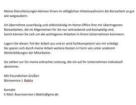 Büroservice hat noch Kapazitäten frei: Kleinanzeigen aus Ahlsdorf - Rubrik Dienstleistungen, Service gewerblich