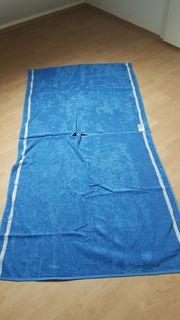 Badetuch Poncho in blau