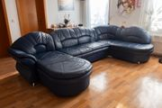 Blaue Couch zu verschenken