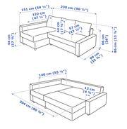 Ikea Schlafsofa grau Friheten mit