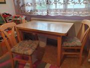 Tischgruppe mit zwei Stühlen Kiefernoptik