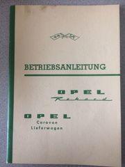 Betriebsanleitung OPEL Olympia Rekord PII