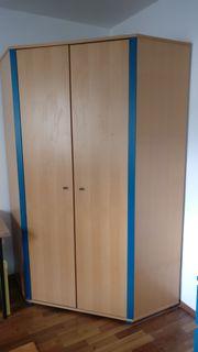 PAIDI Eck-Kleiderschrank Varietta Buche blau