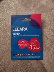Lebara Prepaid SIM Karte aktiviert