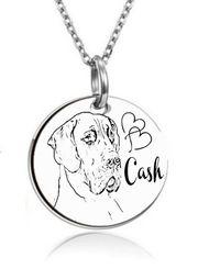 personalisierte Kette Anhänger Deutsche Dogge-Hund