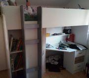 Hochbett 90x200 mit Schrank Schreibtisch