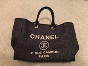 Chanel Tasche in Stoff Anthrazit