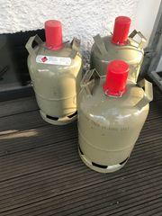 Gasflaschen 11 kg leer grau
