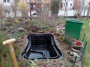 Teichanlage Gartenarbeiten 2021