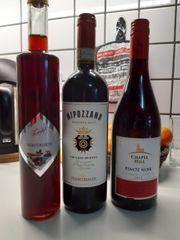 3 Flaschen Rot Wein Likör