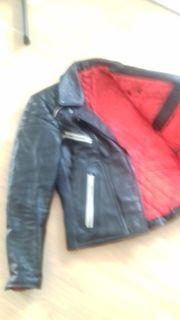 Lederjacke und - Hose schwarz Größe