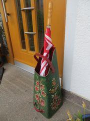 Kohlenkübel Schirmständer Pelletschütte handbemalt dekorativ
