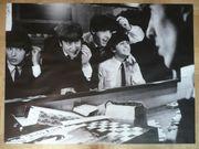 Beatles-Poster selten schwarz-weiß