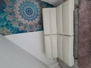 Sofa cremeweiß Kunstleder von Tomasucci -