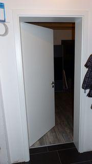 Zimmertürblat weiß Holz
