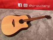 KEYTONE Westerngitarre mit Cutaway Akustikgitarre