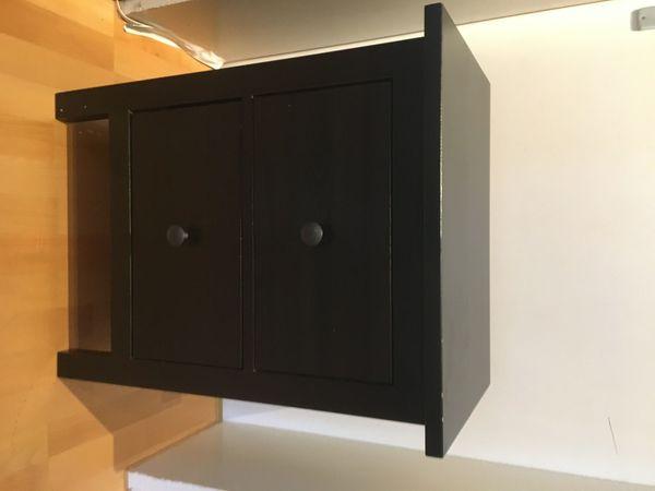 Ikea Hemnes Nachttisch in schwarzbraun