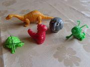 Tiere wippende Mäuse Plastikuhr kpl