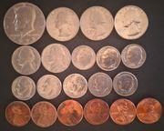 Konvolut 20 Kursmünzen USA