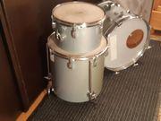 Schlagzeug Drumset Grau vintage