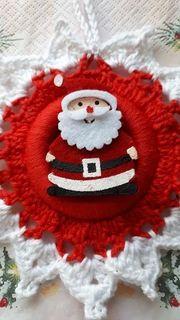 Anhänger weihnachtlich liebevoll gehäkelt Unikate