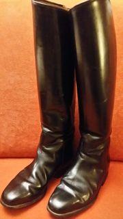 Leder-Reitstiefel schwarz Gr 37
