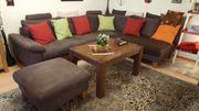Braune Couch mit Extras günstig