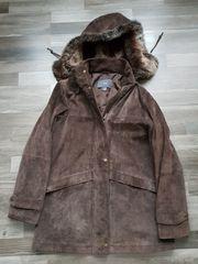 100 Echt Leder Jacke braun
