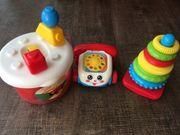 Spielzeug Telefon Bausteine und Stapelturm